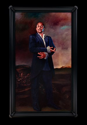 Portrait of Hank Willis Thomas, La Romeria de San Isidro by Kehinde Wiley contemporary artwork