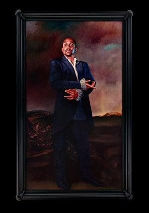 Portrait of Hank Willis Thomas, La Romeria de San Isidro by Kehinde Wiley contemporary artwork