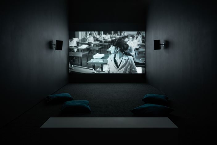 Shirin Neshat, The Colony (2019). Exhibition view: Shirin Neshat, Land of Dreams, Goodman Gallery, London (20 February–28 March 2020). Courtesy Goodman Gallery.