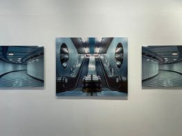 """Christopher Button<br><em>The Labyrinth</em><br><span class=""""oc-gallery"""">Blue Lotus Gallery</span>"""