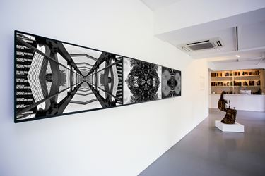 Exhibition view: Group Exhibition, Street Mining: Contemporary Art from the Philippines, Sundaram Tagore Gallery, Singapore (20 January—2 March 2018). Courtesy Sundaram Tagore Gallery.