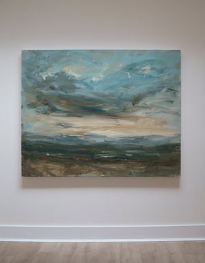 Catching the Sunset (Carn Brea) by Louise Balaam contemporary artwork painting, works on paper
