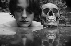 Self-Portrait with Death # 1 by Carlos Motta contemporary artwork