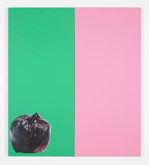 Green and Pink with Rubbish Bag by Gavin Turk contemporary artwork