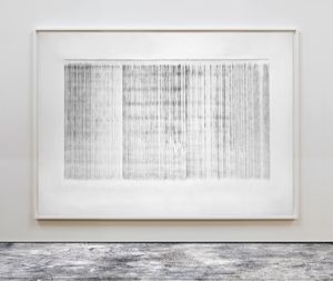 Plumbline Drawing No. 11 by Susan Morris contemporary artwork painting, works on paper