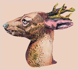 Deer (from Deer Pair) by Rose Farrell & George Parkin contemporary artwork