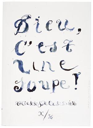Dieu, c'est une soupe ! (couverture) by Thierry De Cordier contemporary artwork