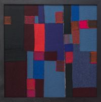Vertical-Horizontal composition by Julia Holderness contemporary artwork textile