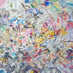 표범이 기억 저편 에네르기 by Woo Tae Kyung contemporary artwork