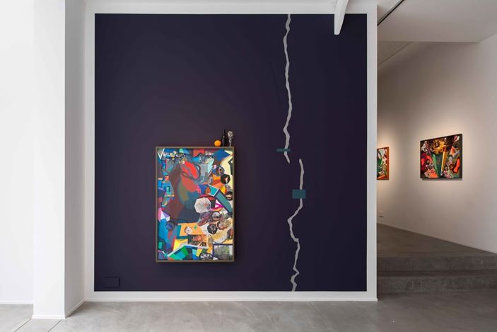 Exhibition view: Franz Ackermann, Our Houses, Templon, Brussels (5 September–19 October 2019). Courtesy Galerie Templon, Paris-Bruxelles and the artist. Photo: Isabelle Artuis.
