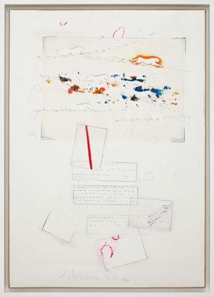 Senza titolo (Cartoline astratte in una giornata dell'amato vento...) by Alighiero Boetti contemporary artwork