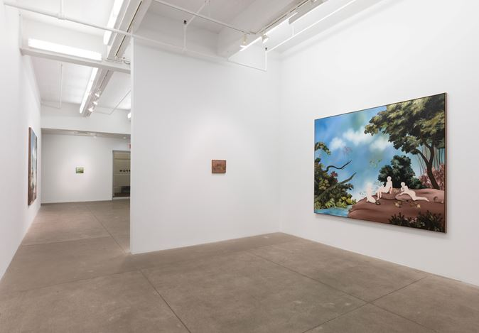 Exhibition view: Sanam Khatibi, An hour before the Devil fell, P·P·O·W Gallery, New York (17 October–16 November 2019). Courtesy P·P·O·W Gallery.