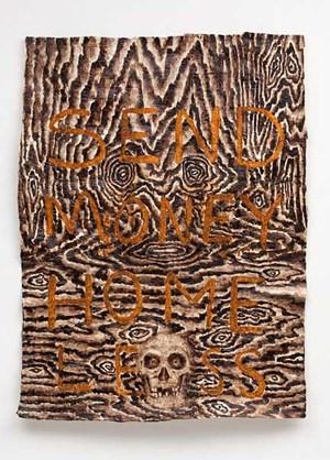 Broke Man Mantra by Fiona Hall contemporary artwork