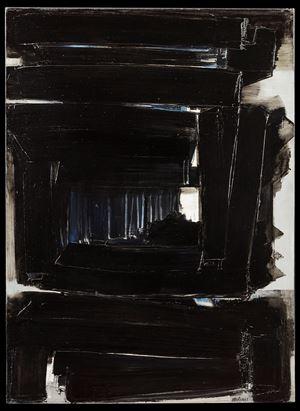 Peinture 100 x 73 cm, 1957 by Pierre Soulages contemporary artwork