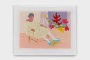 Patient and Plant by March Avery contemporary artwork painting