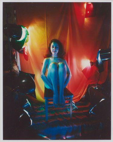 Lucas Samaras,Sittings 8 x 10, 2/21/80 (1980). Color Polaroid photograph. 25.4 x 20.3 cm. © Lucas Samaras. Courtesy Pace Gallery.