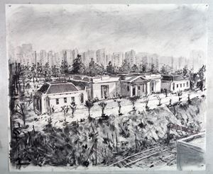 Drawing for City Deep (Johannesburg Art Gallery) by William Kentridge contemporary artwork works on paper, drawing