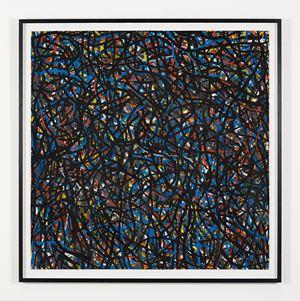 Not Straight Brushstrokes (Black) by Sol LeWitt contemporary artwork