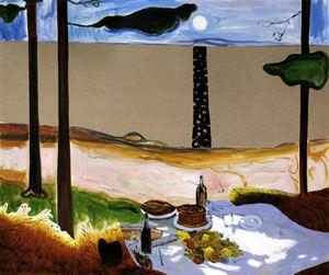Heinrich Von Kleist by Dexter Dalwood contemporary artwork