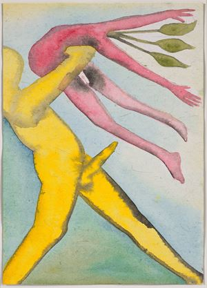 A Story Well Told XI by Francesco Clemente contemporary artwork