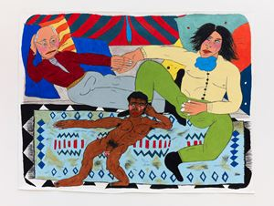 Bedwork / oscar Wilde offering André Gide a young Arab by Soufiane Ababri contemporary artwork