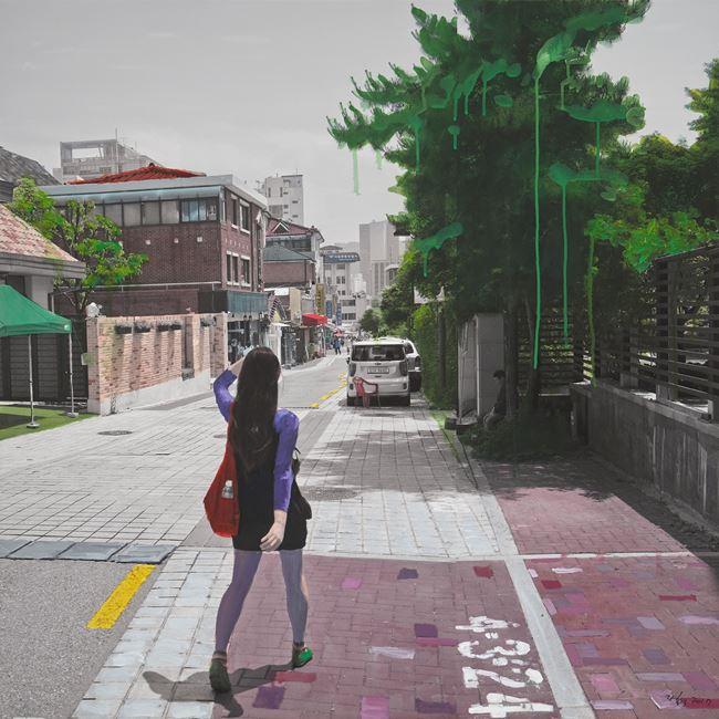 Study of Green-Seoul-Vacant Lot-Anguk-dong by Honggoo Kang contemporary artwork