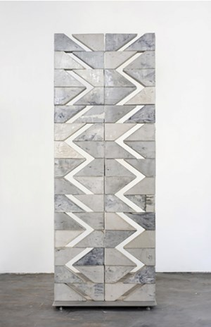 To Be Titled (Additive Sculpture, Cement Screen #19) by Mark Hagen contemporary artwork