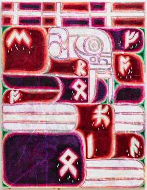 PROVERBS OF HELL (drive your cart and plow over the bones of the dead) musician runes: fear no pain by Alexander Tovborg contemporary artwork