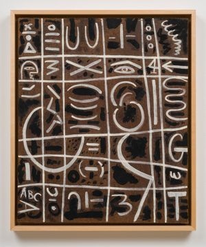 Black and White On Pressed Wood by Adolph Gottlieb contemporary artwork painting