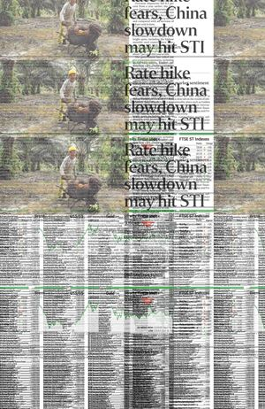 The Straits Times, Monday, August 10, 2015, Page C7 by Heman Chong contemporary artwork