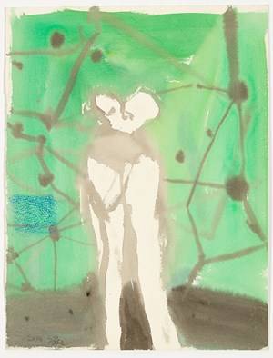 Untitled (Figure in Landscape Series) 无题(风景中的人物系列) by Fang Wei contemporary artwork