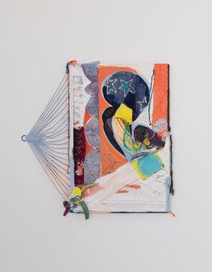 Orange Velvet Rope by Rachel Eulena Williams contemporary artwork