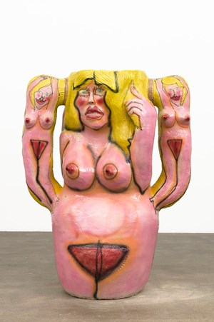 Untitled (Figure with Small Women) by Ruby Neri contemporary artwork