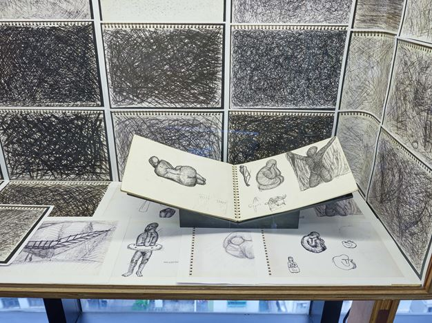 Exhibition view: Form Colour Action: Sketchbooks and Notebooks of Lee Wen, Asia Art Archive Library, Hong Kong (13 March–13 September 2019). Courtesy Asia Art Archive. Photo: Kitmin Lee.