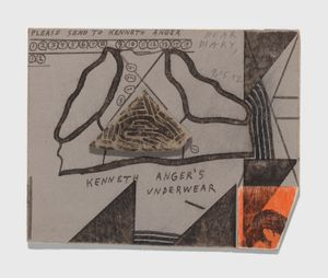 Untitled (Kenneth Anger's Underwear) by Ray Johnson contemporary artwork