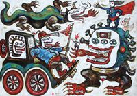 Vehicle of Life by Heri Dono contemporary artwork painting