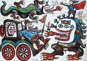 Vehicle of Life by Heri Dono contemporary artwork