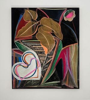 Black painting 2 (les trois palettes) by Aurélie Gravas contemporary artwork