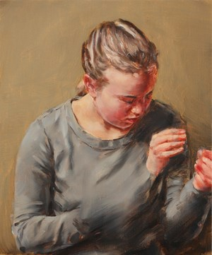 Girl with Hands 9 by Michaël Borremans contemporary artwork