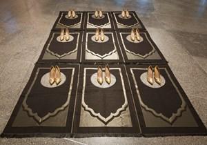 Silence Noir by Zoulikha Bouabdellah contemporary artwork installation