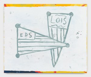 Eds & Lois by Walter Swennen contemporary artwork