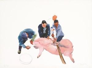 First Cut 第一刀 by Liu Xiaodong contemporary artwork