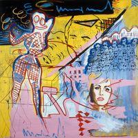 Der Sinn des Lebens by Memphis Schulze contemporary artwork painting