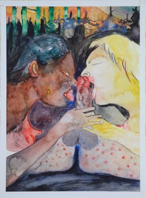 Caligula by David Lehmann contemporary artwork painting, works on paper