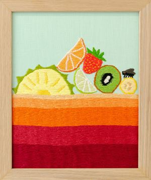 Seperated Juice from the Juice Bar by Erica van Zon contemporary artwork sculpture, textile