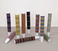 Cup Cosies, 2011 (For Parkett 89) by Haegue Yang contemporary artwork textile