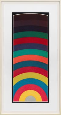 Fifteen Equal Arcs From The Midpoint of the Bottom, with All One-, Two-, Three- and Four-Part Combinations of Four Colors by Sol LeWitt contemporary artwork works on paper, print