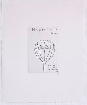 Flowers in Bloom... by David Shrigley contemporary artwork