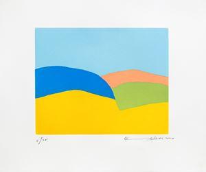 En cheminvers l'arc-en-ciel by Etel Adnan contemporary artwork