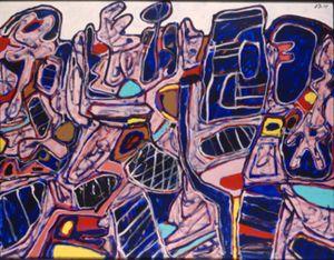 Site aux itinéraires (T 121) 9 septembre 1975 by Jean Dubuffet contemporary artwork